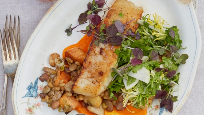 pan roasted fish dish